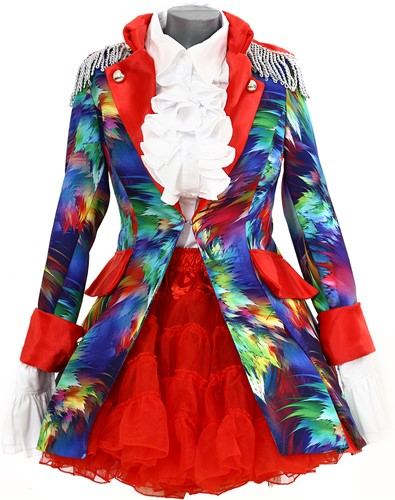 Dames Carnavalsjas Colorful Leaves Lang Luxe