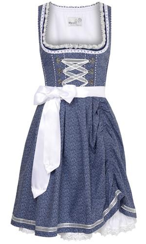 Dirndl Tamilla Blauw Luxe (55cm)