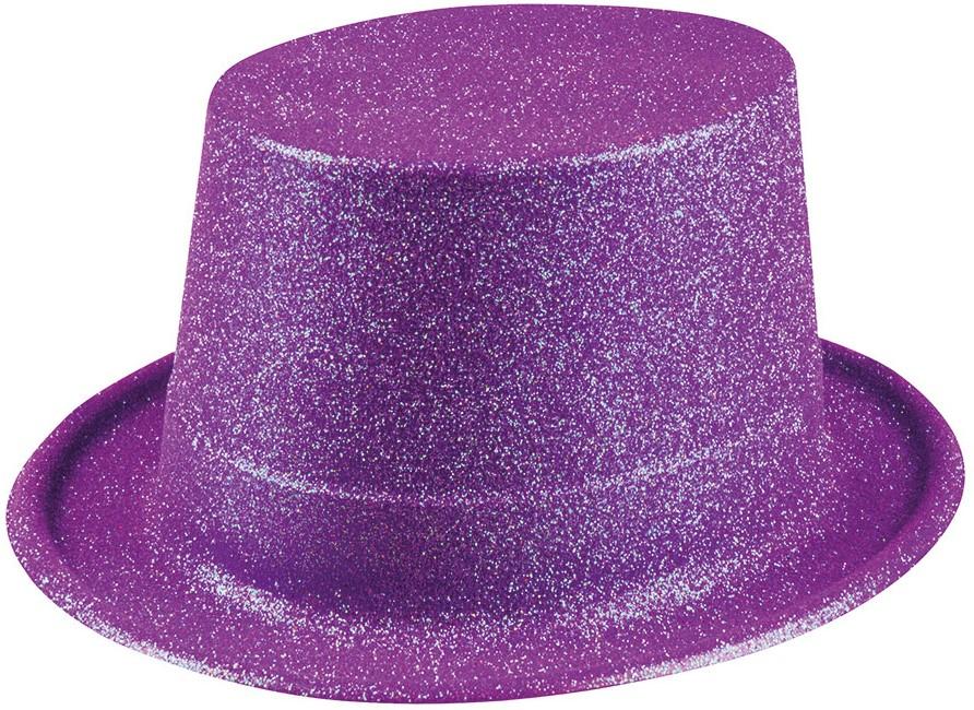 Hoge Hoed Paars Glitter Kopen Carnavalsland Nl