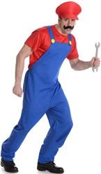 Herenkostuum Rode Loodgieter Mario