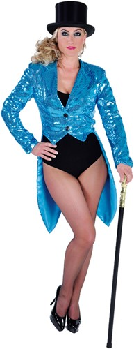 Pailletten Slipjas de Luxe Turquoise