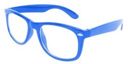 6e0f3434dff5cd Blues Brother Bril Blauw met blank glas