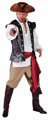 Herenkostuum Piraat Luxe 4dlg.