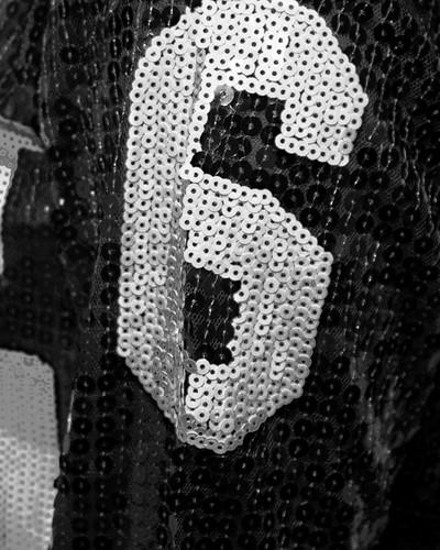 Pailletten Jurkje Miss Perfect 61 Zwart/Zilver (mouwen)