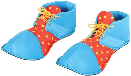 Clownsschoenen Blauw-Rood (Stof)