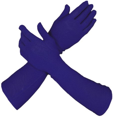Handschoenen Piet Lang Blauw (42cm)