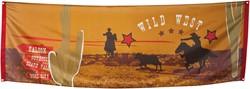 Banner Cowboy Wild West 220x74cm