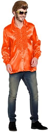 Disco Ruches Blouse Luxe Oranje