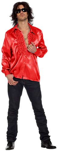 Disco Ruches Blouse Luxe Rood