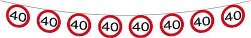 Vlaggenlijn 40 jaar Verkeersbord