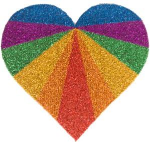 Face & Body Jewel Rainbow Hart