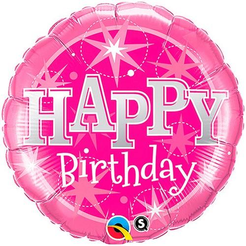 Folieballon Happy Birthday Pink