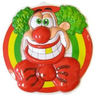 Wanddeco Clownshoofd 50X50cm