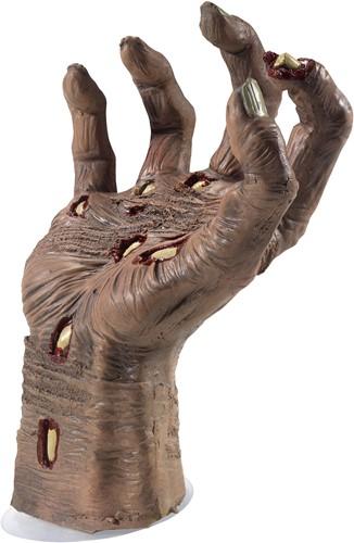 Halloween Decoratie Zombie Hand met Zuignap