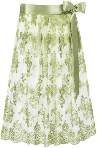 Trachten Dirndlschort Luxe Groen (70cm)
