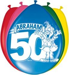 Ballonnen 8st  Abraham Stripes