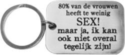 Sleutelhanger 80% van de Vrouwen