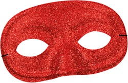 Oogmasker Glitter Rood
