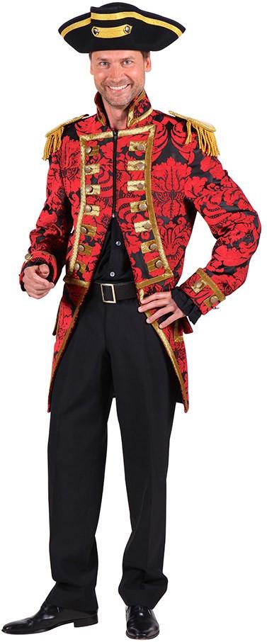 Jas heer Nelson brokaat rood zwart
