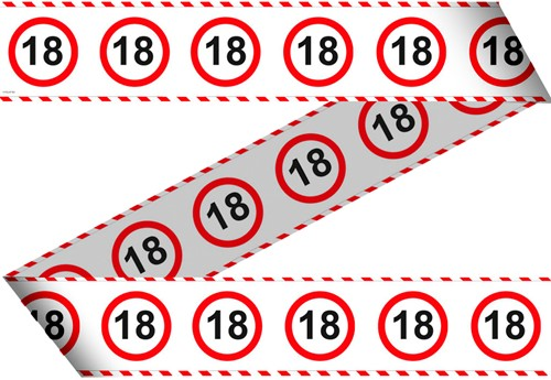 Markeerlint 18 Jaar Verkeersbord