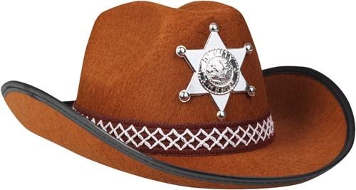 Kinder Cowboyhoed Sheriff Bruin