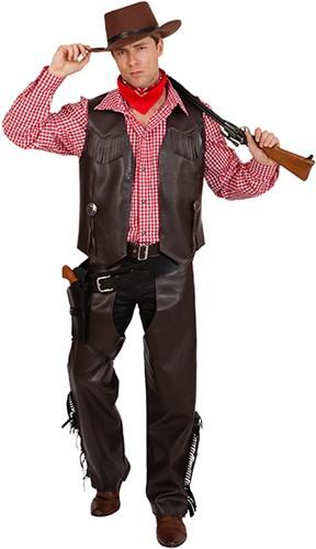 Heren Cowboy Chaps Bruin Luxe
