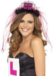 Tiara Bride to Be + Sluier Pink