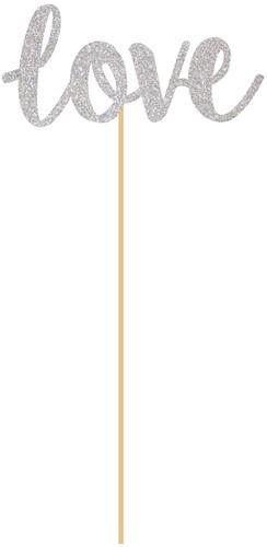 Prikkers Love Zilver 18cm (6st.)