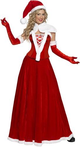 Kerstvrouw Kostuum Luxe voor dames