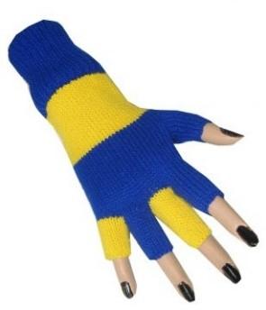 Vingerloze Handschoenen Blauw/Geel