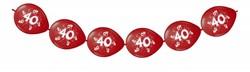 Doorknoopballonnen 40 Robijn Metallic 8st.