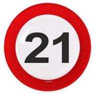 Bordjes 21 jaar Verkeersbord 8st