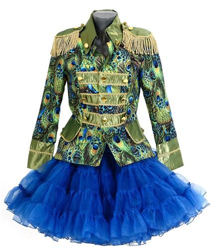 Dames Blazer Peacock Luxe