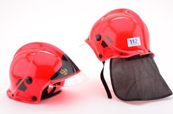 Brandweerhelm Rood Luxe (Hoofdcommandant)