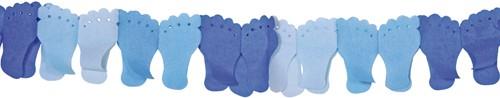 Slinger Voetjes Papier Blauw 6mtr