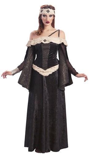Dameskostuum Middeleeuwse Koningin Luxe