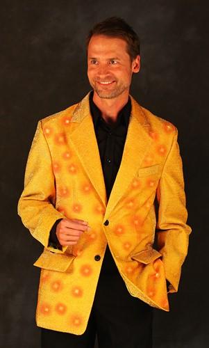 Heren Glitter Colbert Goud met LED-verlichting