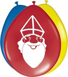 Ballonnen Sinterklaas 8st