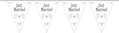 Vlaggenlijn Just Married 10mtr