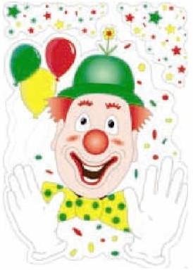 Raamdecoratie Clown 35X50 Brandvertragen