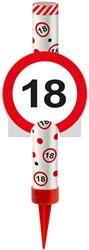 IJsfontein 18 Verkeersbord