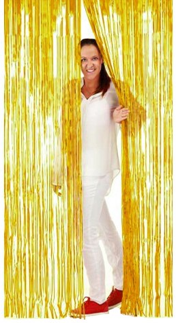 Deurgordijn Folie 2x1mtr Goud