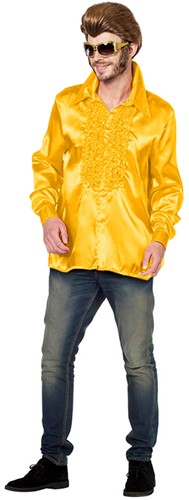 Disco Ruches Blouse Luxe Geel