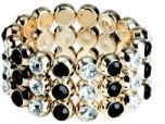 Armband Bling Kleine Diamanten Zwart-Zilver
