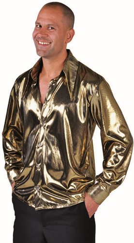 Blouse Folie Metallic Goud