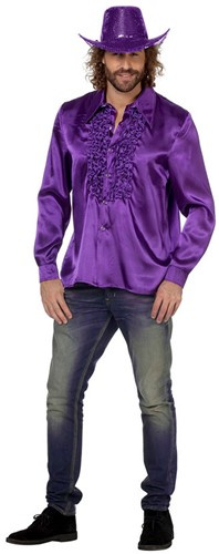 Disco Ruches Blouse Luxe Paars