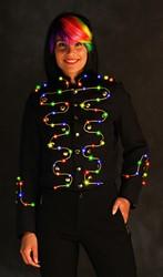 Damesjas Helena Zwart-Goud met LED-verlichting