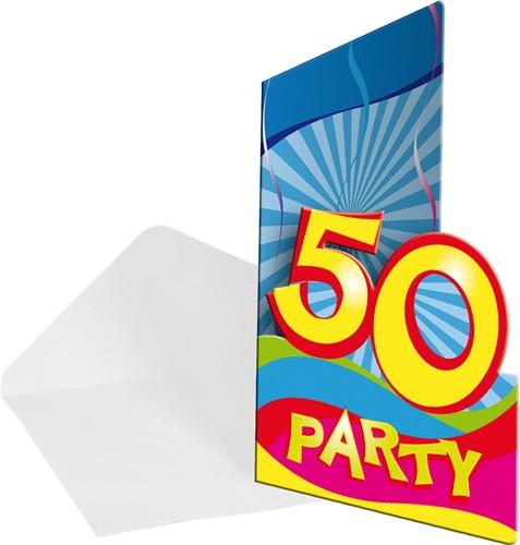 Uitnodigingen 50 jaar Swirls 8st