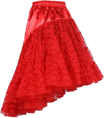 Petticoat met Kant Luxe Rood