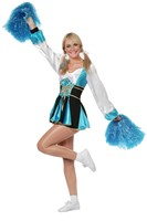 Dameskostuum Cheerleader Aqua